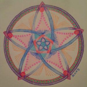 Pentagram door Carin