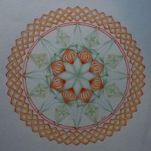 kristallen in de Mandala