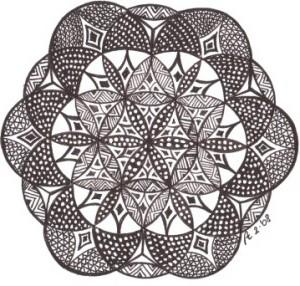 Zendala in de Flower of Life