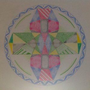 Vedische Kristalmandala door Inge