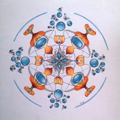 energie, blauw, oranje, bewegen....