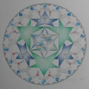 Kristallen in de Mandala door Carli