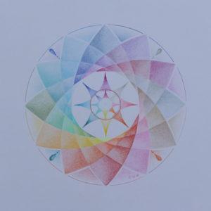 De open Lotus Mandala