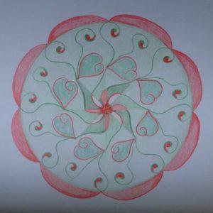 Dynamische rozetmandala door Inge