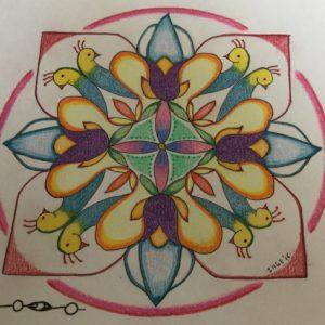 Kolam in de mandala door Inge