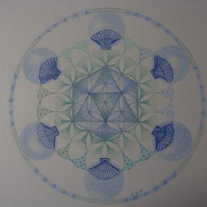 de Icosaëder in het Heiligbeenchakra