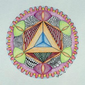 geometrische mandala door Ciel