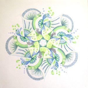 werken met Geometrische sjablonen en dan de beweging erin brengen....